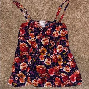 Flowy floral tank top